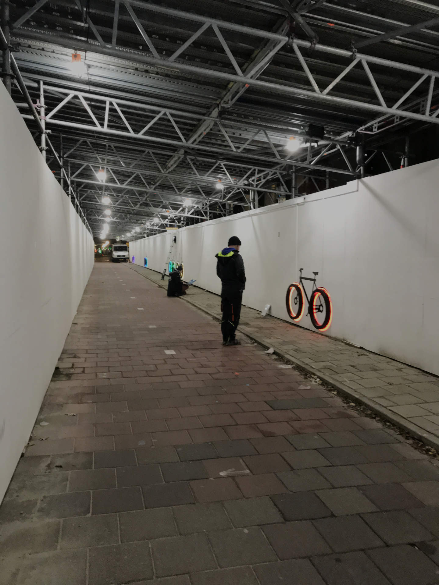 Making of Tunnel lighting art design - together with the light Amsterdam
